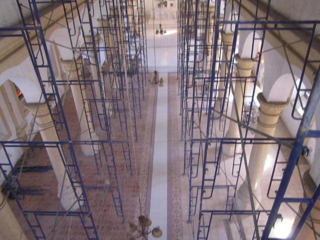 Miragoane Church renovation in progress