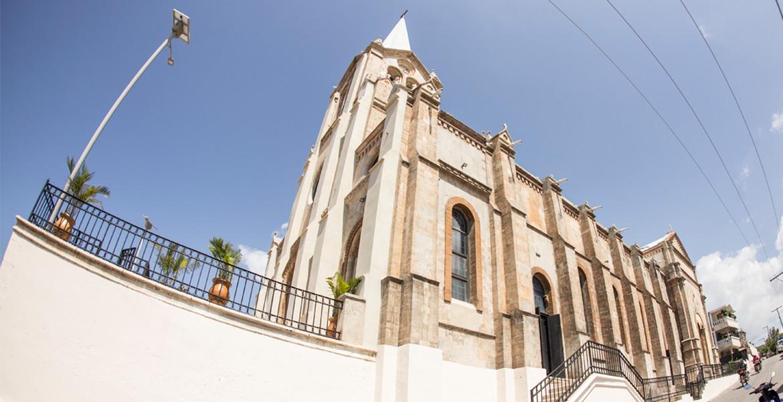 Miragoane Church side street view after renovation