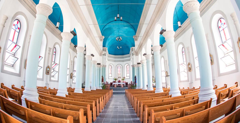 Miragoane Church interior after renovation